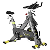 pooboo Indoor Exercise Bike Commercial Stationary Bike Belt Drive Indoor Cycling Bike with 42 LB Flywheel,LCD Monitor (S1)