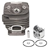 ECCPP 48mm Cylinder Head Piston Kit fit for Stihl 034 034AV 034SUPER 036 and MS360 Chainsaws Replaces 1125 020 1215 1125 020 1213 Piston Pin Rings Circlip Chainsaw Parts New
