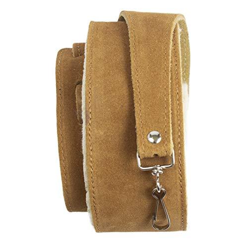 Perri's Leathers Ltd. - Banjo Strap - Suede - Sheepskin Pad - Tan - Adjustable - Made in Canada (BJ-STRP-6696)
