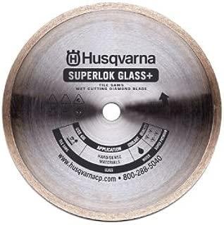 Husqvarna 542776617 Superlok Glass Diamond Tile Blade, 8-Inch x .065-Inch x 5/8-Inch