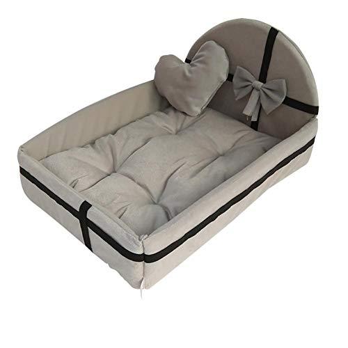LMDZSW Simpatico Cuscino in Peluche Adatto per Cuccia per Cani con materassino Caldo per materassino per Cani di Piccola Taglia Medio Rimovibile Cuccia S Bianco