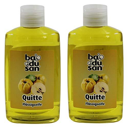 2er Pack Badusan Seife Flüssigseife Quitte 2 x 300 ml, flüssige Seife Handseife Handlotion