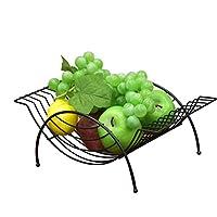 stand de fruits à une seule couche: afficher une variété d'articles ménagers tels que les fruits et légumes frais, qui peuvent être facilement apprécié pendant la cuisson .. Durable: métal bol de fruits Chrome avec la structure pour une durabilité et...