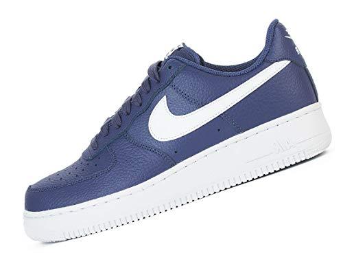 Nike Air 1 '07 Lthr, Zapatillas de Gimnasia para Hombre, Azul (Blue Force/Black/White 401), 45.5 EU