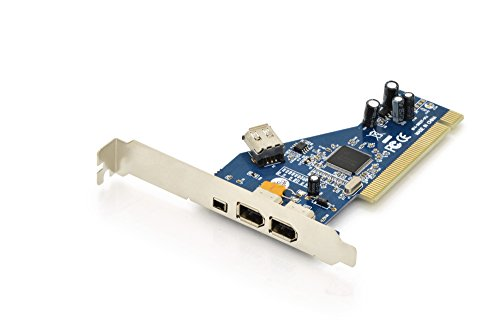 DIGITUS DS-33203-2 Tarjeta y Adaptador de Interfaz Interno IEEE 1394 Firewire - Accesorio (PCI, IEEE 1394 Firewire, PC, TI TSB43AB23, Plata, 0,4 Gbit s)
