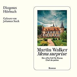Menu surprise     Bruno Courrèges 11              Autor:                                                                                                                                 Martin Walker,                                                                                        Michael Windgassen                               Sprecher:                                                                                                                                 Johannes Steck                      Spieldauer: 11 Std. und 2 Min.     107 Bewertungen     Gesamt 4,4