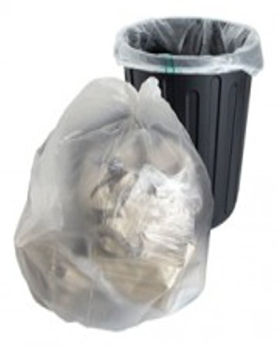200 grote sterke transparante plastic polytheen Bin Liners zakken zakken grootte 18 x 29 x 39 Weigeren Rubbish afval recycling vuilnisbak door UKPS