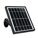 skrskr Fuente de alimentación de Panel Solar para cámara de Seguridad IP inalámbrica con batería Recargable para Exteriores, 5V 3.4w 582mA