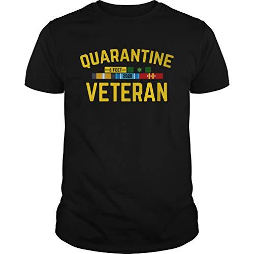 Quarantine Veteran Córónávírús 6 Feet 2020 Unisex Cool Graphic Tees For Men 80S Best Women 90S Tees Retro