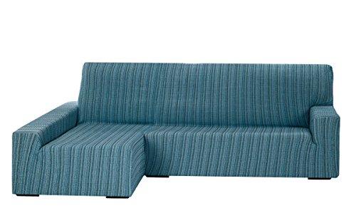 Martina Home - Copridivano Elastico per Chaise Longue Braccio Sinistro 32x42x17 cm Blu, tela