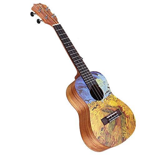Chlyuan-mu Guitarra 23 Pulgadas de Madera de Acacia Ukulele con Funda Principiantes Guitarra Paquete con el sintonizador y String Ordinario para niños Adultos Principiantes Principiantes