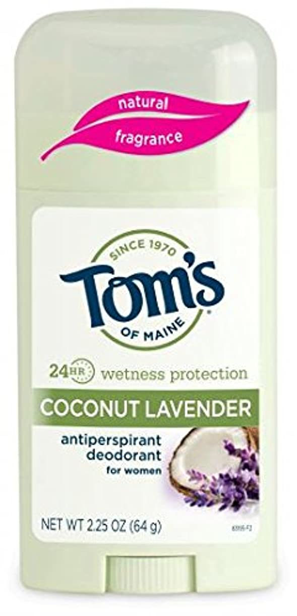 下に向けますなだめるインタネットを見るTom's of Maine 女性のスティックナチュラル制汗剤、ココナッツラベンダー、2.25オンス 海外直送