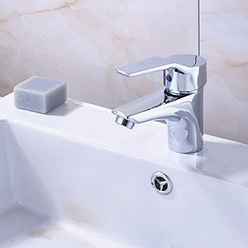 YZDD Grifo montura de cubierta grifo de baño agua caliente y fría grifo monomando/orificio grifo mezclador