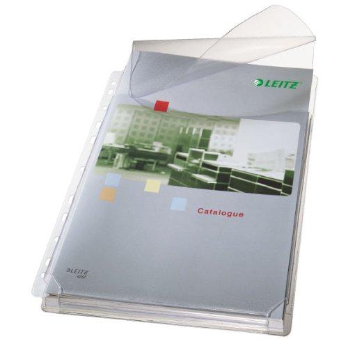 Leitz Maxi Prospekthüllen-Set mit Klappen, 5 Stück, A4 Format, Ausdehnbar, Kapazität für 200 Blatt, 0,17 mm PVC-Hartfolie, 47573003