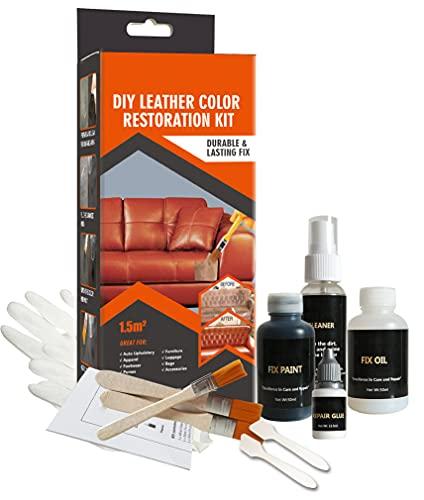 Visbella - Kit de reparación de cuero y vinilo DIY, para reparación de parejas