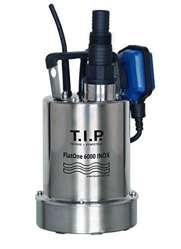 T.I.P. 30440 Drainage & Poolentwässerungspumpe FlatOne 6000 INOX, flachabsaugend bis 1 mm, bis 6.000 l/h Fördermenge