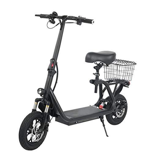 ZYHLL Elektrischer Roller mit Sitz Elektrisches Fahrrad Dreifach-Stoßdämpfung Höchstgeschwindigkeit 43km / H, 45 km weiträumige Zweirädrigen Batterie-Auto mit LCD-Display