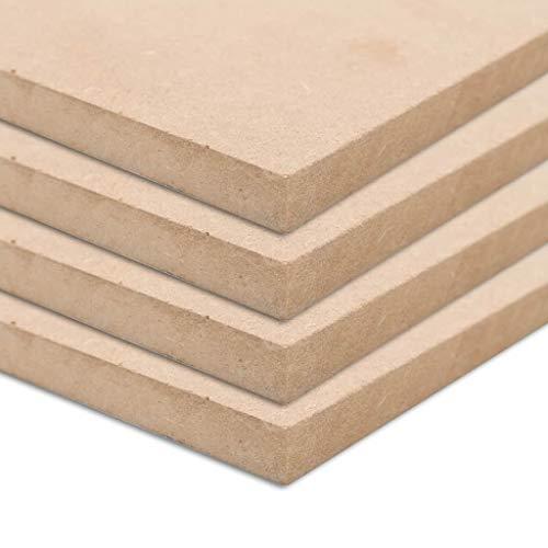 vidaXL 4x MDF Platten 120x60 cm 12 mm Mitteldichte Faserplatte Holzzuschnitt