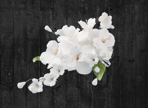 Cake Company Zuckerblumenboquet Orchidee 1 Stück weiß 1er Pack (1 x 55 g)