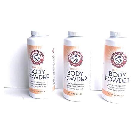 Talc-Free Body Powder for Body Odor Sweat & Moisture (3 pack)