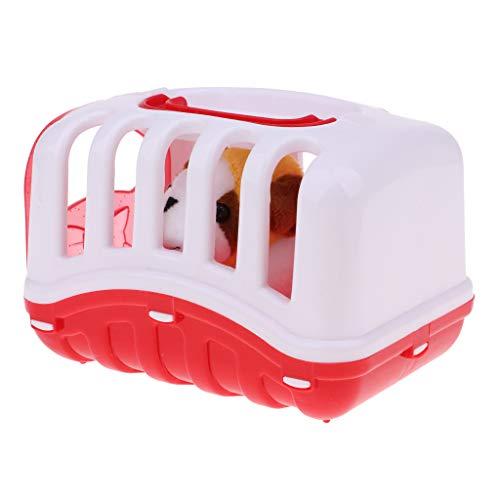 perfeclan Casa de Muñecas Cuarto de Niños Bebé de Simulación Animal Jaula para Mascotas Modelo Muebles para