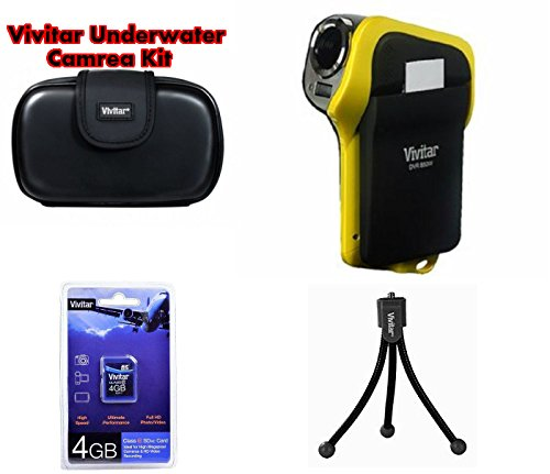 Vivitar DVR-850 8.1MP Underwater Digital HD Camera & Camcorder Kit - Yellow