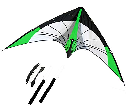 Backyard Stunt Stunt kite, Dual Line, 68 inches Wingspan Great Outdoor Sport. Neon Green Arrow