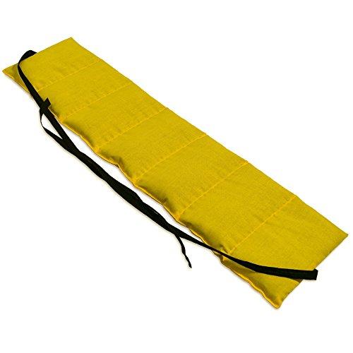 Bio-Dinkelkissen 7-Kammer mit Band, 65x15 mango. Wärme-Gürtel, langes Kissen zum Binden, Rücken
