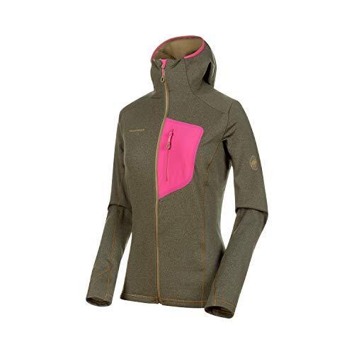 Mammut Damen Aconcagua Light Midlayer-Jacke Mit Kapuze, Olive Melange-pink, M
