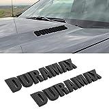 2 x DURAMAX Hood Letter Logo Emblem Badge Adhesive...