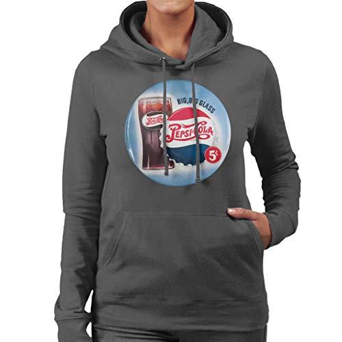 Pepsi Cola Retro Big Glass Women's Hooded Sweatshirt