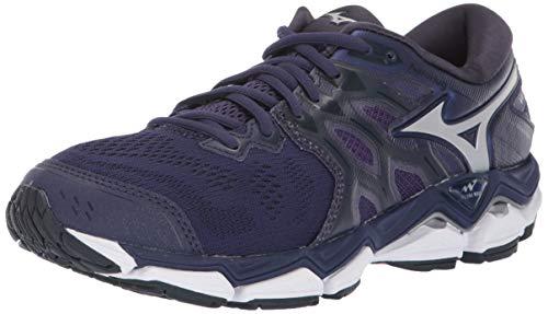 Mizuno Women's Wave Horizon 3 Running Shoe, Astral Aura-Silver, 7 B US