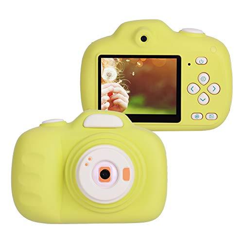 Cocoarm digitale mini-camera voor kinderen, oplaadbaar, digitale videocamera met USB-kabel, met 12 megapixel frontcamera, 8 megapixel R ¹1ckcamera, ondersteuning 32G geheugenkaart, kleur geel