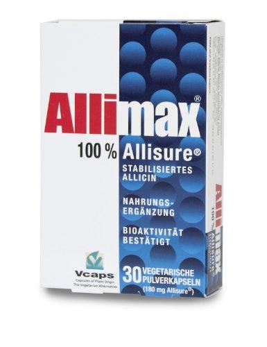 Allimax30 Kapseln - das Original - 100% stabilisiertes Allicin - Knoblauch Kapseln geruchlos - natürlicher Schutz - Allicin Allimax Deutschland GmbH