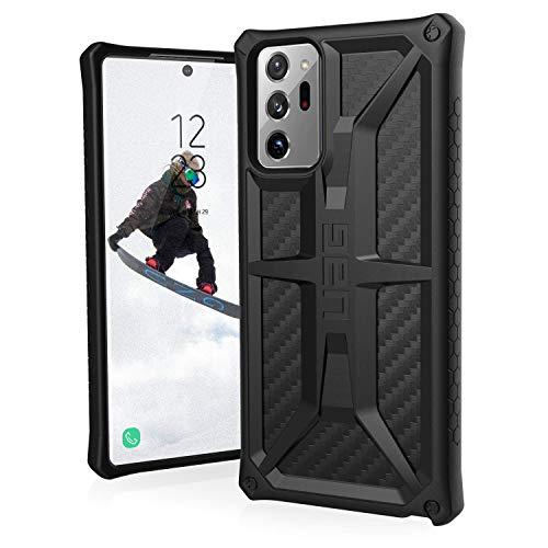 Urban Armor Gear Monarch Hülle Samsung Galaxy Note20 Ultra (5G) (6,9'' Zoll) Hülle [Offiziell Designed for Samsung Zertifiziert, 5-Schichten-Schutz, Wireless-Charging (Qi) kompatibel] Carbon