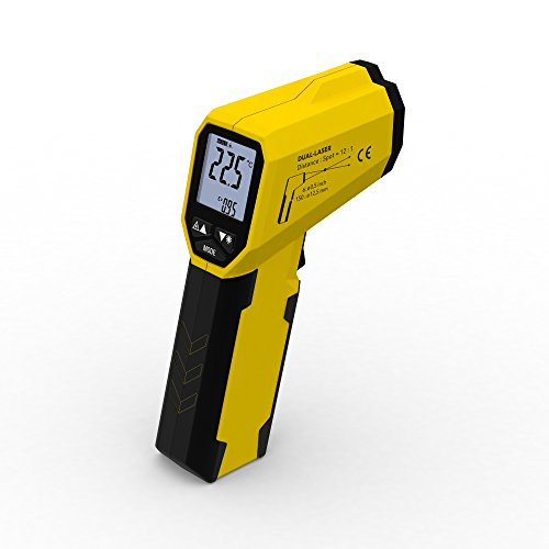 TROTEC BP21 Infrarot Thermometer, Pyrometer, Temperaturmessgerät -35 °C bis +800°C, Berührungslos Thermometer Digital LCD, Hintergrundbeleuchtbares Display