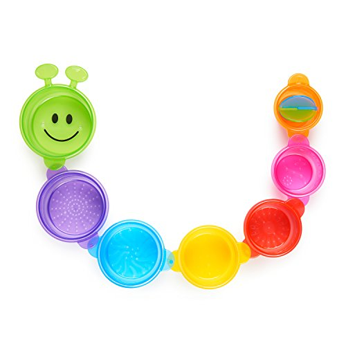 Munchkin Caterpillar Cups are great bath toys for toddlers and babies