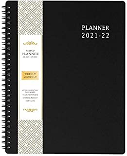 "2021-2022 Planner - Jul 2021-Jun 2022, Weekly & Monthly Planner 8"" x 10"", Flexible Cover, To Do List, Twin-Wire Binding"