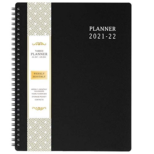 2021-2022 Planner - Academic Planner 2021-2022 with Weekly & Monthly Spreads, Jul 2021 - Jun 2022, Strong Twin - Wire Binding, Round Corner, Improving Your Time Management Skill