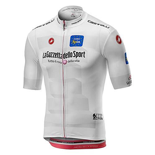 castelli # Giro102 Squadra Jersey, Maglietta Ciclismo Uomo, (Bianco 001), S