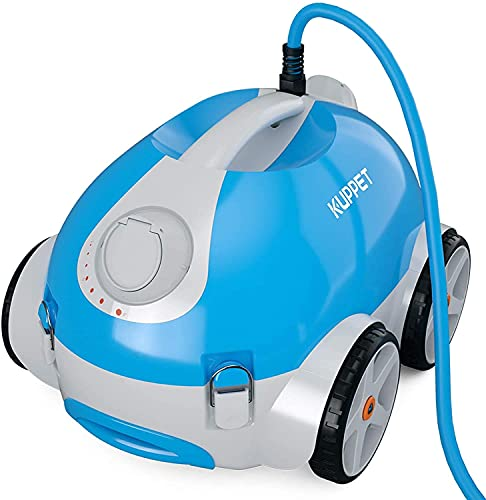 N\A Automatic Pool Cleaner - Robotic In-Ground/Above Ground Pool Cleaner with Wall Climbing Function, Large Filter Basket and Tangle-Free Cord Up to 50 Feet