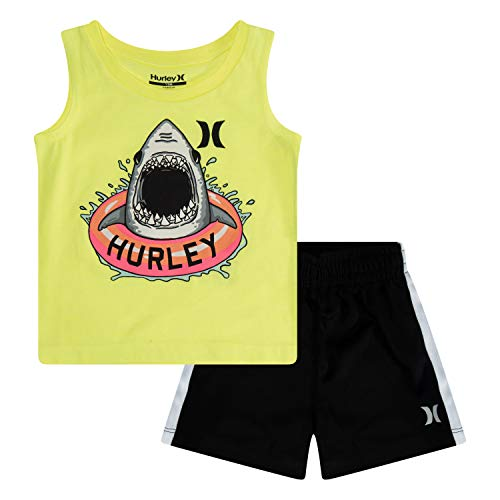 Hurley Boys' Toddler Tank Top and Shorts 2-Piece...