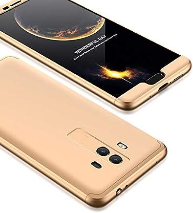 cc5cd2982a8 hyujia Funda Compatible Huawei Mate 10(2018) 360 Grados Integral Ambas  Caras+Cristal Templado,3 in 1 Slim Dactilares Protectora PC Hard Caso Skin  Case Cover ...