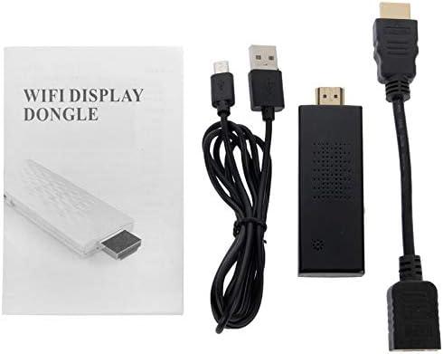 BOQIUANS Support WiFi + HDMI, CPU: ARM Cortex A9 Individual Core 1.2GHz, HDMI Miracast DLNA Display Dongle (Color : Black)