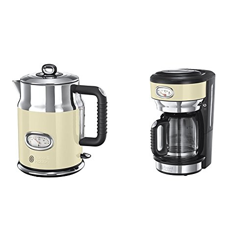 Russell Hobbs Retro Vintage Bouilloire + Russell Hobbs Retro Vintage Cafetière