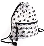 Waterproof Drawstring Backpack with Zip Pockets - Clear Backpack - Gym Bag - Casual Daypack Backpacks - String Bag for Sports, School, Swim - Waterproof Backpack for Man, Woman and Kids - Backpack for Teens