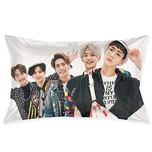 Shinee K-POP - Funda de almohada coreana para cabello y piel, diseño de cremallera oculta, 50,8 x 76,2 cm