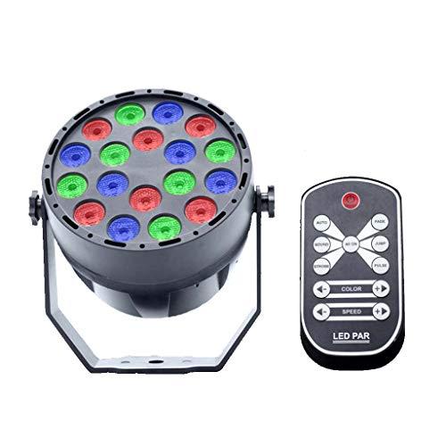 Nouveau Lumineo DEL Disco Boule Magique 6 X Multicolore Lumières avec télécommande
