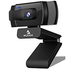 【HD Webcam 1080p Autofocus】 The NexiGo PC Webcam with a 2-megapixel CMOS features up to a 1080p resolution at 30 fps. With a 7cm starting point and a nearly infinite range, the autofocus feature is able to ensure your videos are always sharp and crys...