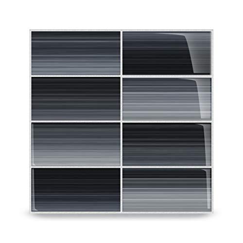 Bodesi Late Night Glass Subway Tile for Kitchen Backsplash or Bathroom, Color Sample
